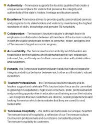 ttc strategic plan tennessee tourism committee values