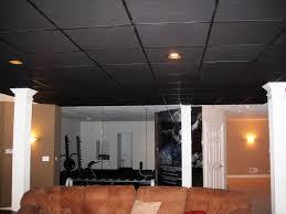 image of new black drop ceiling tiles design