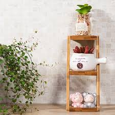 Small Table Display Stands 100 Tier Bamboo Flower Rack Flowerpot Rack Small Plants Table Stand 50