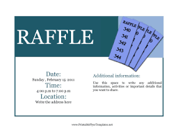 Raffle Ticket Poster Template Raffle Flyer Template Under Fontanacountryinn Com