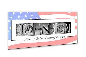 veteran s gift patriotic gift military gift personalized housewarming gift creative letter art