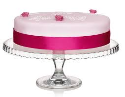 details about vintage style large glass cake display stand 32cm diameter