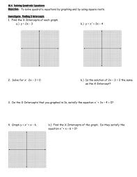 10 4 solving quadratic equations