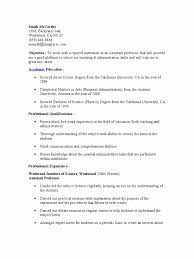 Resume Format For Assistant Professor Job Resume format assistant Professor Awesome Resume format for 2