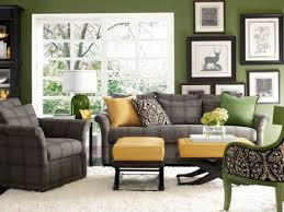 grass green living room with sunny yellow and checked grey accents