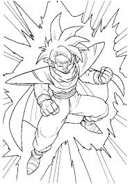 Coloring Sheet Dragon Ball Z Dragon Ball Z Coloring Page Is Very