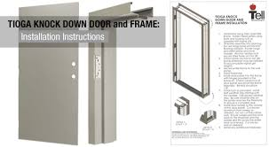 tioga knock down doors and frames