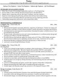 Sample Resume Format For Software Test Engineer Vibrant Device