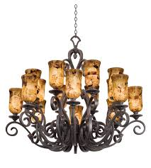 kalco 4264ac ps5201 ibiza 16 light 50 inch antique copper chandelier ceiling light in penshell ps5201
