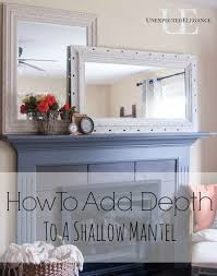step by step tutorial to add more depth to a shallow mantel easy and inexpensive