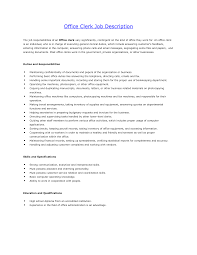Office Clerk Job Description For Resume Office Clerk Job Description For Resume Resume For Study 2