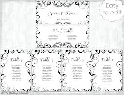 wedding table planner printable seating chart template white rose bud blank poster plan round wor