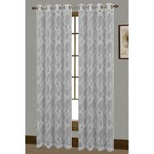 avery cotton blend burnout sheer extra wide 108 x 84 in grommet curtain panel pair