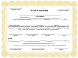 Template For Stock Certificate 40 Free Stock Certificate Templates Excelshe