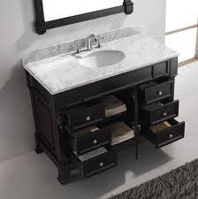 Dark Bathroom Vanity Virtu Usa Huntshire Manor 48 Single Bathroom Vanity Set In Dark