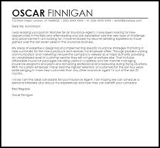 Insurance Agent Cover Letter Sample Cover Letter Templates Examples