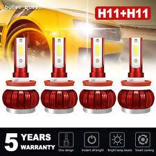 4x Mini H11 H8 H9 LED Headlight Kits 400W <b>60000LM</b> Bulbs <b>Hi</b> ...