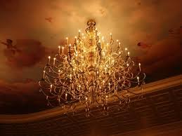 be our guest restaurant chandelier in the grand ballroom