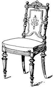 chair clipart black and white. modern chair | clipart etc clipart black and white