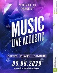 invitation flyer live music acoustic poster design temple live show modern party dj