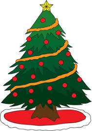 Free Tree Clipart Image Simple Christmas Tree With Star Garland