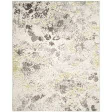 watercolor ivory gray 8 ft x 10 ft area rug watercolor ivory gray