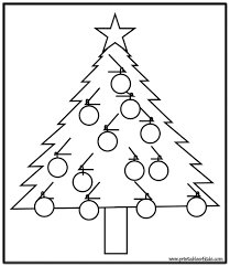 Small Picture Coloring Pages Simple Christmas Tree Coloring Page Printables For