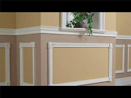 large modern chair rail molds and thin chair rail modl on their top