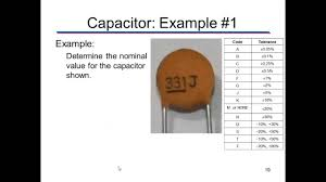 Ceramic Capacitor Chart Determining The Value Of A Capacitor