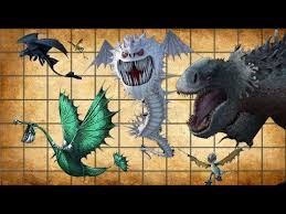Dragons Size Comparison Of How To Train Your Dragon 1 Spore