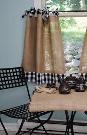 a french country look for your kitchen this very cute cafe curtain is the perfect curtain for french country decor burlap is dry clean o