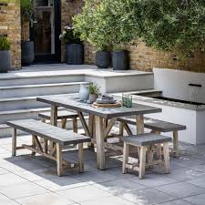 outdoor table bench set. chilson-table-and-bench-set-from-garden-trading. outdoor table bench set