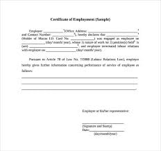 11 Certificate Of Employment Samples Word Excel Samples