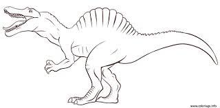 Coloriage Dinosaure Enfant Simple De Jurassic Park Dessin Par