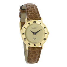 gucci 9200l. gucci 3000 series ladies gold tone brown leather swiss quartz watch 3000l 9200l