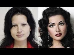 women wear loads of make up nowadays
