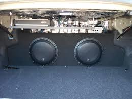 my car audio sub and amp jl inside hyundai genesis forum jl bass knob and grills zenclosure box dual 10 audiocontrol lc2i loc custom amp rack jl 4 gauge amp kit jl 16 guage speaker wires jl rca cables