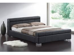 Time Living Durham 4ft6 Double Black Faux Leather Bed Frame by Time ...