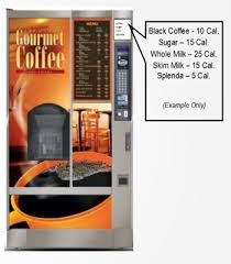 Calories In Vending Machine Coffee Enchanting FrontOfPack FontSize Extension Does Not Exempt Glassfront Vending