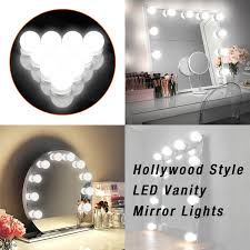 hollywood lighting fixtures. Makeup Mirror Lights Hollywood Style LED Vanity 10 Bulbs Kit For Dressing Table With Touch Dimmer And Power Supply Plug In Lighting Fixtures