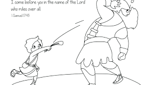 David And Goliath Coloring Sheet Pdf No Page Repents Pages Trend Vs