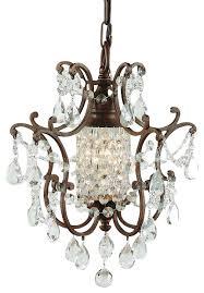 murray feiss maison de ville 1 light bronze mini chandelier f1879 1brb