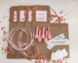 set of 7 kits diy pop the balloon secret message inside will you be my bridesmaid proposal bridal party bridal favor secret message