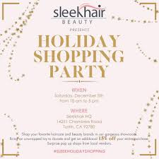Sleekhair Coms Special Holiday Beauty And Fashion Shopping Event In