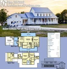 plan 31528gf modern farmhouse plan with wrap around porch