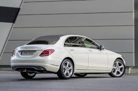 2014 Mercedes-Benz C-Class white rear |