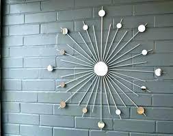 mid century modern metal wall art metal sunburst wall art mid century modern metal wall art
