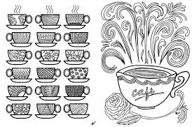 Small Picture Free Printable Coloring Pages Adults Coffe Popular Free