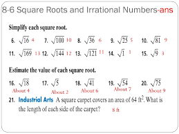 Estimating square roots worksheet homework answers 4531810 ...