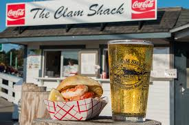 the perfect summertime treat an icy cold beer and a lobster roll